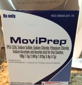 MoviPrep. How witty! Taste like lake water and goes down much better chilled.