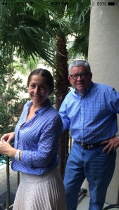 Apparently our team uniform is blue gingham. Always happy to match with my daddy!